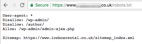 robots.txt file correct configuration example