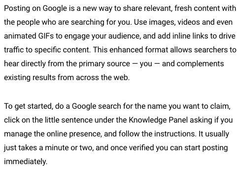how google posts work and how to get on it