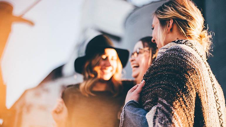 marketing to millennials - young women laughing