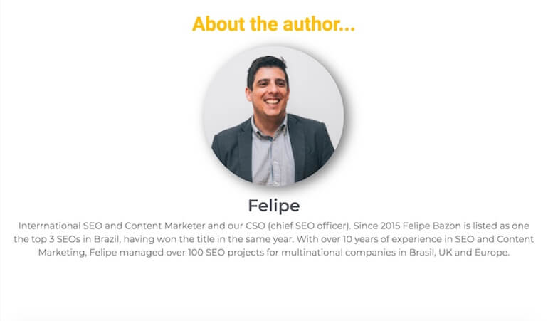 Author profile of Felipe Bazon from the Hedgehog Digital blog.