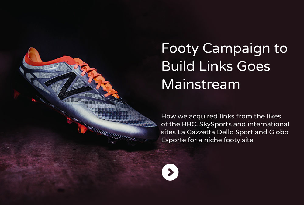 footy boots campaign