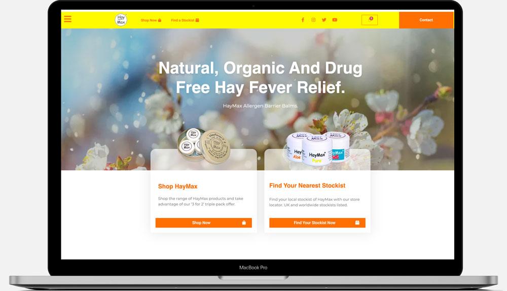 haymax desktop homepage